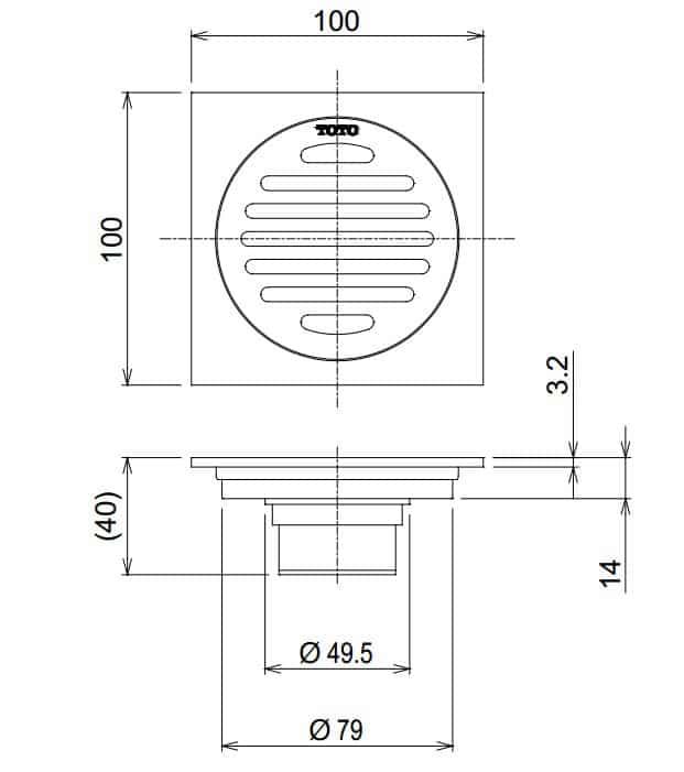 Bản vẽ kỹ thuật thoát sàn TVBA407