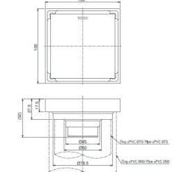 Bản vẽ kỹ thuật thoát sàn TVBA413