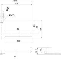 Bản vẽ toto TX703ARS